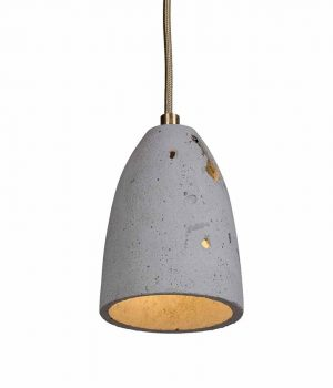 Contemporary, hand-cast concrete lamp shade