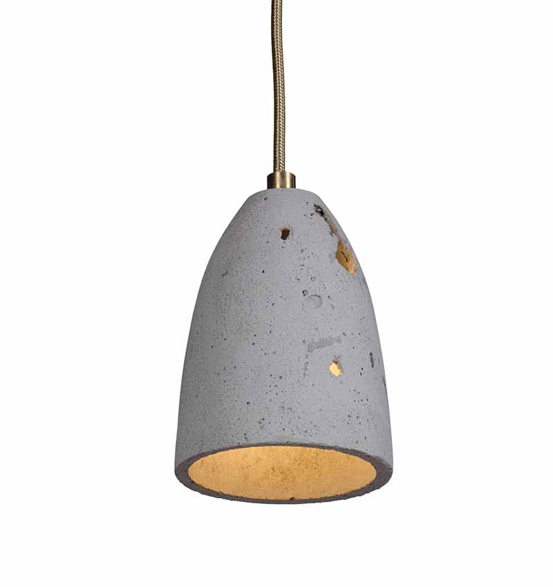 Contemporary, hand-cast concrete lamp shade
