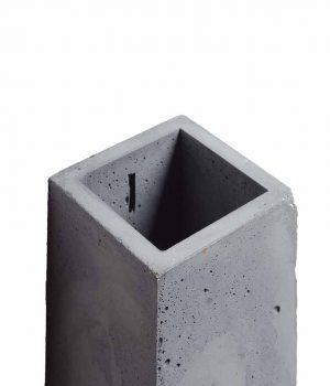 Closeup birds eye view of the Orto Anthracite Concrete Table Lamp