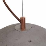 Sphere concrete light in natural with bronze detail
