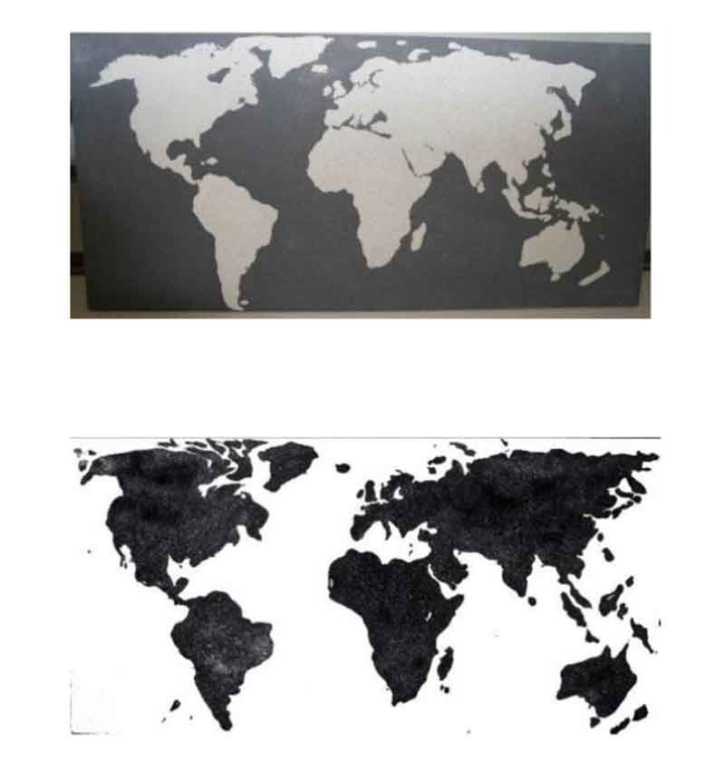 2d concrete world map living concrete top white on black bottom black on gumiabroncs Image collections