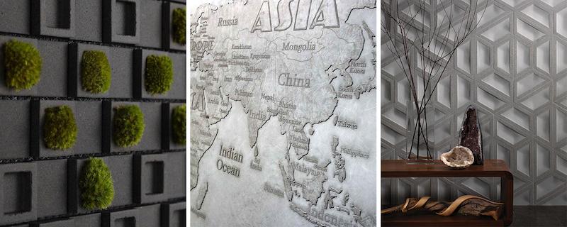 Concrete wall art