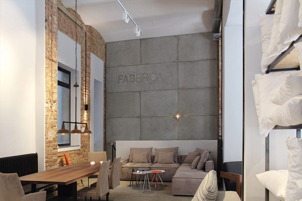 Plain concrete panels