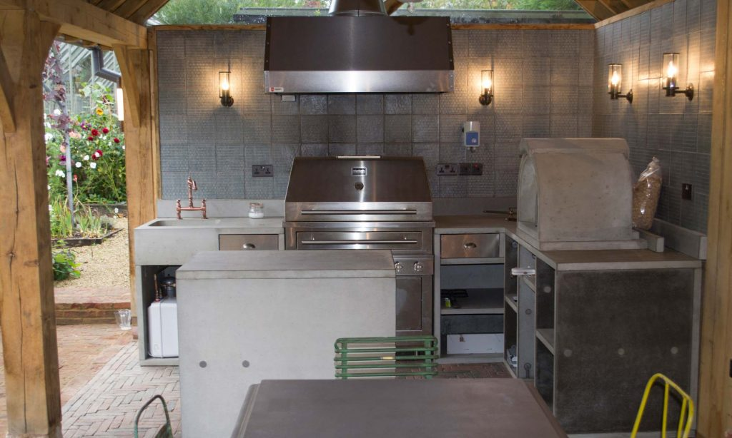 Outdoor Concrete Kitchen Great Missenden Living Concrete