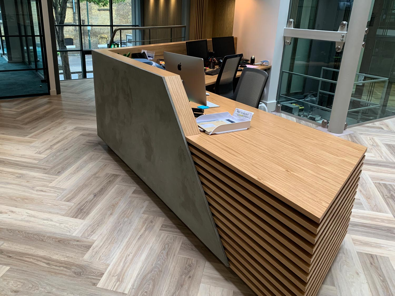 k2 space reception desk south london